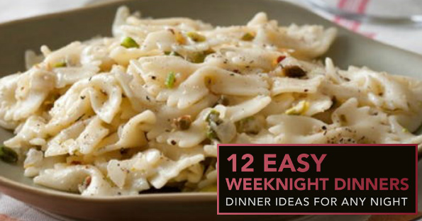 FREE 12 Easy Weeknight Dinners eCookbook