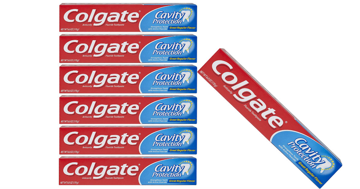 Colgate Cavity Protection Toothpaste 6-Pk ONLY $6.66 Shipped